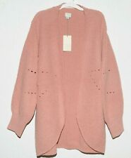 A New Day Womens Small Pink Knitted Open Front Cardigan Sweater NWT
