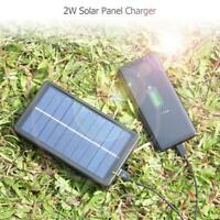2W 5V Portable Solar USB Charger Power Charging Panel for Section 18650 Battery