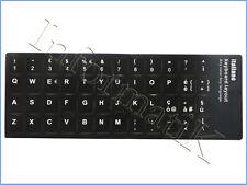Adesivi Neri Etichette Lettere per Tastiera Italiana Stickers Black Keyboard ITA