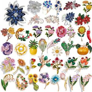 Wholesale Flower Crystal Pearl Brooch Pin Women's Wedding Bridal Jewellery Gifts