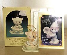 Precious Moments~Ornament~Teddy Bear n Sled~Dated 1987~104515~Bear The Good News
