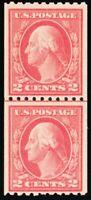 442, Mint 2¢ F/VF NH Coil Line Pair CV $130.00 -- Stuart Katz