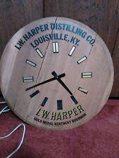 Bourbon Barrel Wood Clock I.W. Harper Distilling Co. Louisville Kentucky