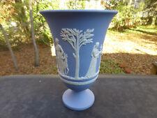 Antique Vintage Wedgwood Jasper Classic Blue Grecian Urn Vase