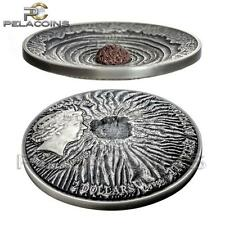 Niue Island 2014 2$ ERTA ALE VOLCANO 2oz - Silver Antique Finish