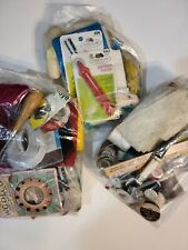 Massive Lot of Vintage Sewing Notions: Thread, Spools, Tools, Fabric. *Offers *