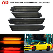 Smoked LED Side Marker Light For Chevy Camaro 2010-2015 Amber Red Front Rear 4x