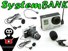 Microfono Stereo per NIKON D5500 D5300 D5200 D5100 D3300 D3200 D3100 / Con Clip