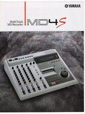 "Vintage Ad Sales Brochure: Yamaha ""Multi-Track MD Recorder MD4S"""