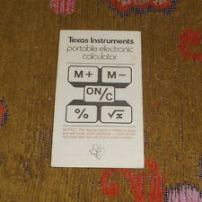 Vintage Texas Instruments Portable Electronic Calculator Instruction Manual