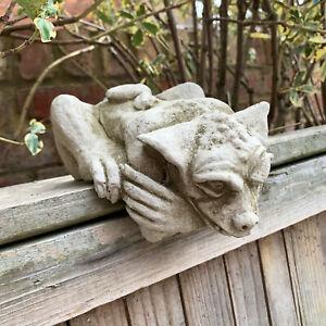 Gothic Peeping Gargoyle Gremlin Stone Outdoor Garden Statue Ornament Sculpture