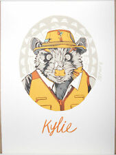 "Tyler Stout Fantastic Mr Fox Kylie Handbill Screen Print Poster 5"" x 7"" Stamped"
