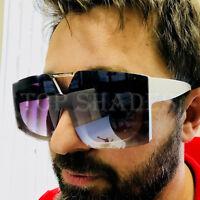 Aviator Oversized Big Square Designer Flat Top Bar Fashion Sunglasses Men Women