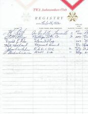1972 MICHAEL CAINE, GLORIA LORING & (signed for ) ALAN THICKE TWA GUEST REGISTRY