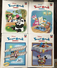 Lot of 4 Vintage Disney's Year Book Hardcover Books 2001 2002 2003 2005
