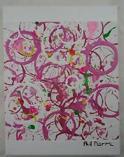 Phil Pierre - PINK BUBBLES 018 - new original abstract painting on cotton canvas