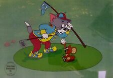 Warner Bros Tom and Jerry Hole in One Golf Sericel Animation Art Cel