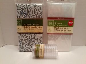 Home Collection Peva Shower Curtain / clear liner set (lot)