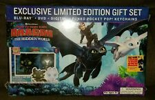 *HOW TO TRAIN YOUR DRAGON Hidden World* Exclusive DVD Set w/ Funko POP Keychains