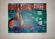 Perré Danièle lithographie signée numérotée 1957 art abstrait abstraction