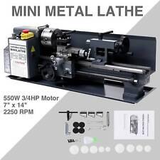 Mini Metal Lathe Machine Bed 7 X 14 550w Variable Speed 2250 Rpm Dc Motor Bpt