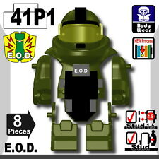 Tank Green EOD bomb suit (W281) army compatible with toy brick minifigures