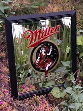 "Miller High Life Beer Bar Mirror Man Cave Pub ""New�"