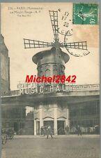 CPA Paris 18ème 75018 Montmartre le Moulin Rouge Music Hall Animé