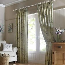 Fusion - Staveley Green Elegant Watercolour Floral Curtains OR Cushion Cover