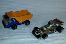 2x alte Spielzeugautos/Vintage toy cars MATCHBOX: Formula 5000 / Atlas