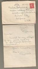 England 1952 cover & letter Doreen Blacklock Paignton to Mgm Metro Goldwyn Mayer