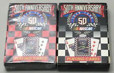NASCAR 50th Anniversary Playing Cards 2 Decks  1998 Racing Collectable Black Red