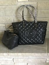 BEBE OLIVIA ICON QUILTED LOGO TOTE WITH LEASHED POUCH MSRP$109 BRAND NEW