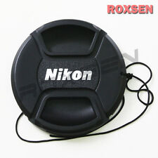 62mm Center Pinch Snap-on Front Lens Cap hood Cover for Nikon lens with Strap