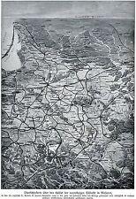 1915 Übersichtskarte der Winterschlacht in den Masuren * russ.Niederlage * WW 1
