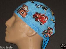 DISNEY PIXAR CARS BLUE SCRUB HAT WITH FREE CUSTOM SIZING!