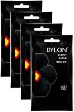 4x Dylon Intense Velvet Black Fabric and Clothes Hand Dye 50g - FREE P&P
