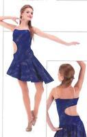 Contemporary Ballet Lyrical Ice Skating Dance Dress Costume Child M & L Adult XL