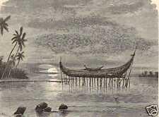 Antique print tempel Doré of Dorey Manokwari VOC 1880