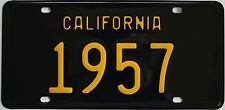 1957 California-Style Novelty License Plate, Black background