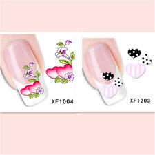 2Sheet/Lot Popular Exquisite Water Transfer DIY Nail Sticker XF1004+1203