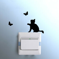Removable Cat Light Switch Art Vinyl Quote Wall Sticker Mural Home Decora Decal