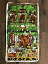 Vintage Irish Linen Fabric Kitchen Tea Dish Towel Ireland Map Souvenir Nwot Nice