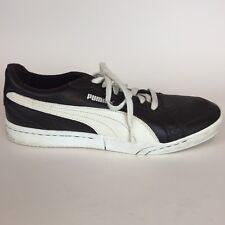 Puma Men's Leather Fashion Sneaker Dark Brown Ivory Strip Size 10