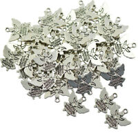 60pcs Antique Silver Jewelry Making Charms Angel Pendant Findings DIY Craft