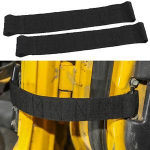 Black Car Door Limit Strap Bandage Rope For Jeep Wrangler TJ 1997-2006 2PCS