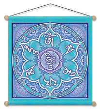 "Mandala Arts 30"" X 30"" Temple Banner ""Jewel In The Lotus"" ""Om Mani Padme Hum"""