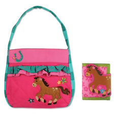 Stephen Joseph Quilted Horse Purse and Wallet for Girls - Cute Kids Handbags