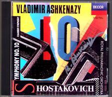 Vladimir ASHKENAZY Signed SHOSTAKOVICH Symphony No.10 Chamber CD Schostakowitsch