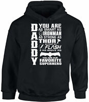 Daddy Superhero Hoodie Hooded Sweatshirt Proud Dad Father`s Day Gift Best Dad